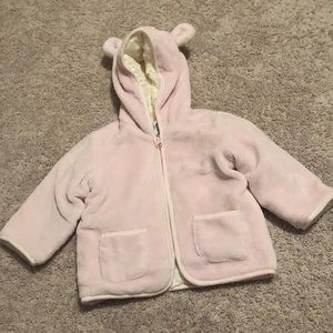 Baby girl's jacket with hoodie